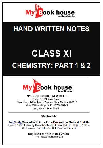 Notes: Chemistry XII | MY BOOK HOUSE Book Store in delhi
